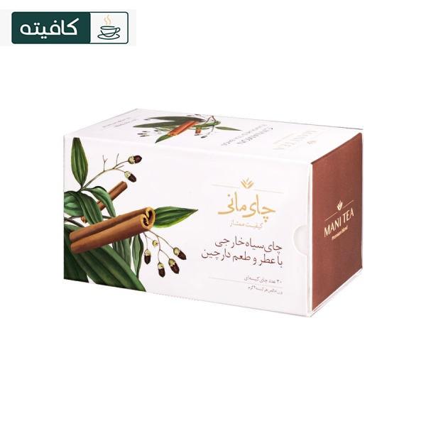 چای سیاه کیسه ای با طعم دارچین مانی بسته ۲۰ عددی