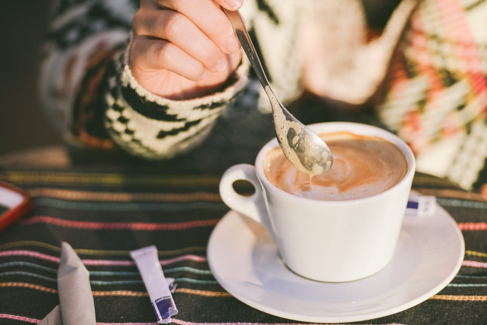 قهوه با شیر و قهوه با شکر
