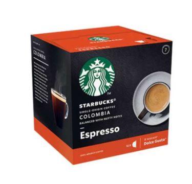 کپسول قهوه کلومبیا دولچه گوستو استارباکس بسته ۱۲ عددی