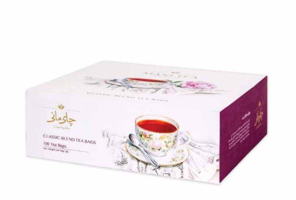 چای کیسه ای کلاسیک ۱۰۰ عددی مانی