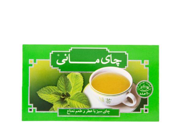 چای سبز نعناع کیسه ای مانی