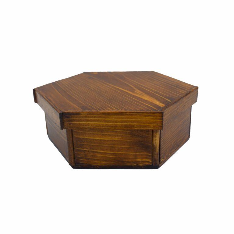 گیفت دمنوش چوبی ۶ضلعی